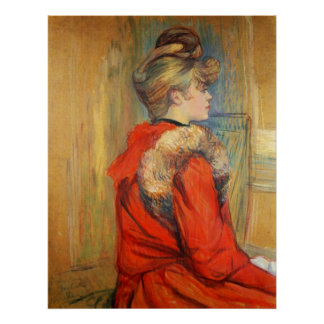 Girl with fur by Toulouse-Lautrec Poster