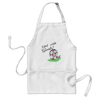 Girl With Goals T-shirts and Gifts. Adult Apron