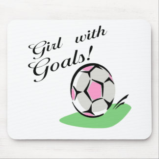 Girl With Goals T-shirts and Gifts. Mouse Pad