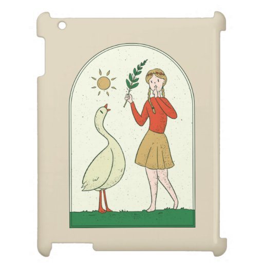 GIRL WITH GOOSE Case for the iPad DESIGN