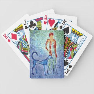 Girl with greyhound artwork bicycle poker deck