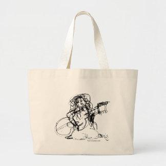 Girl with Guitar Jumbo Tote Bag