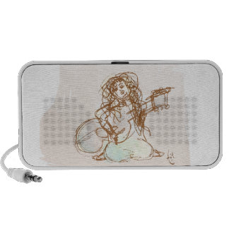 Girl with Guitar Portable Speaker