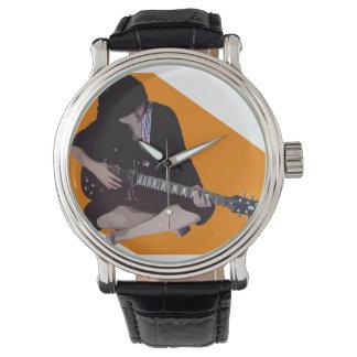 Girl with Guitar Wrist Watch