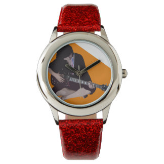 Girl with Guitar Wrist Watches
