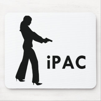 Girl With Gun iPac Mouse Pad
