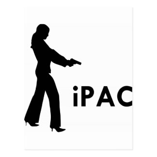 Girl With Gun iPac Postcard