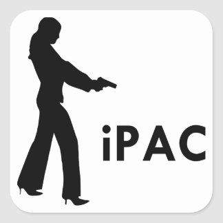 Girl With Gun iPac Square Sticker