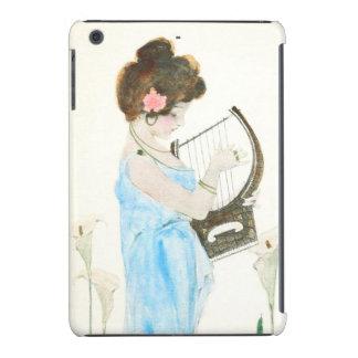 Girl with Harp Art Nouveau iPad Mini Retina Cover