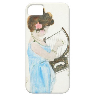 Girl with Harp Art Nouveau iPhone 5 Case