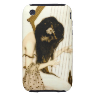 Girl with Harp Tough iPhone 3 Covers