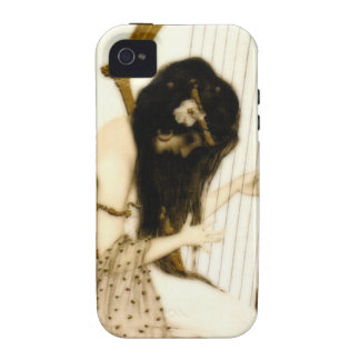 Girl with Harp iPhone 4 Cover