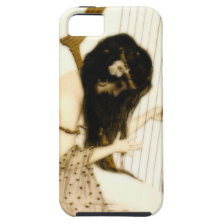 Girl with Harp iPhone 5 Cases