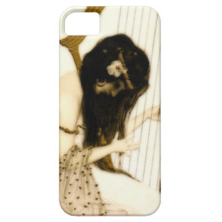 Girl with Harp iPhone 5 Covers