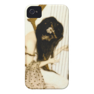 Girl with Harp iPhone 4 Covers