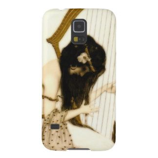 Girl with Harp Galaxy S5 Case