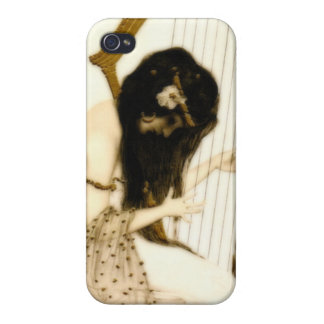 Girl with Harp iPhone 4/4S Cases