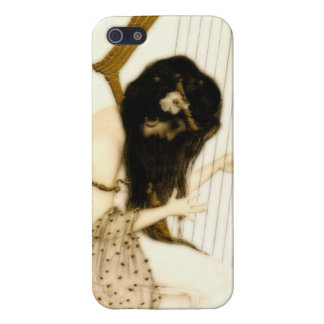 Girl with Harp iPhone 5 Case