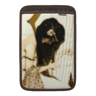 Girl with Harp MacBook Sleeve