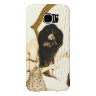 Girl with Harp Samsung Galaxy S6 Cases