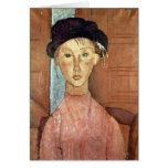Girl with Hat by Amedeo Modigliani Cards