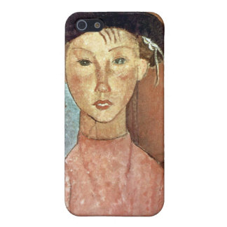 Girl with Hat by Amedeo Modigliani Cover For iPhone SE/5/5s