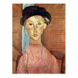Girl with Hat by Amedeo Modigliani Postcards