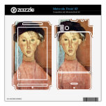 Girl with Hat by Amedeo Modigliani Motorola Droid X2 Skins