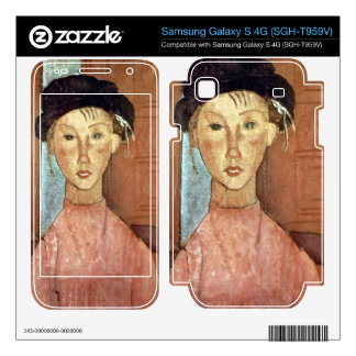 Girl with Hat by Amedeo Modigliani Samsung Galaxy S 4G Decal