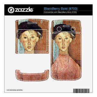Girl with Hat by Amedeo Modigliani BlackBerry Skin