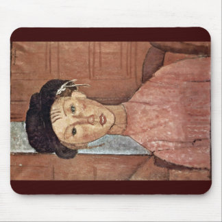 Girl With Hat By Modigliani Amedeo Mouse Pad