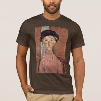Girl With Hat By Modigliani Amedeo T-Shirt