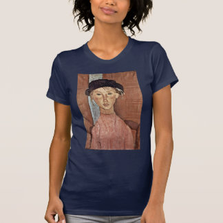 Girl With Hat By Modigliani Amedeo Tee Shirts