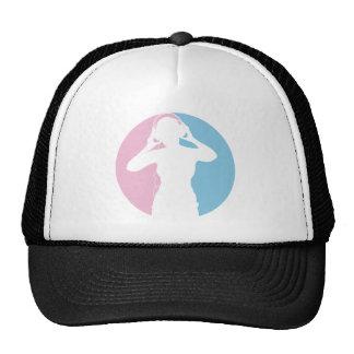 Girl with Headphones Cap Hats