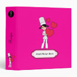 Girl with Hearts Motif - 3 Ring Binder