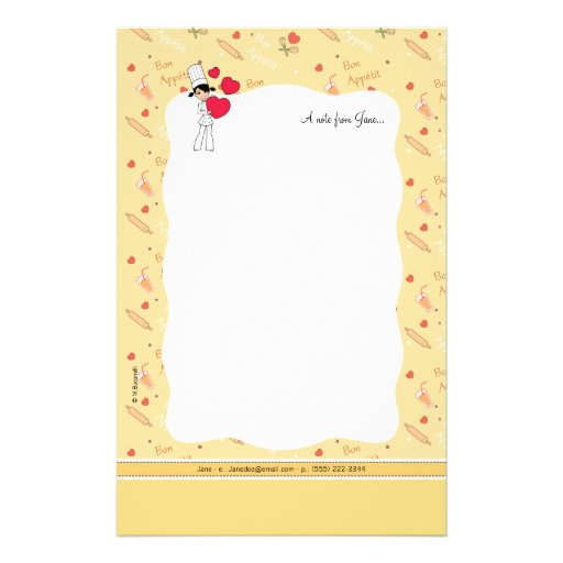 Girl with Hearts Motif - Customized Stationery