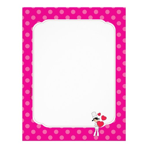 Girl with Hearts Motif - Letterhead