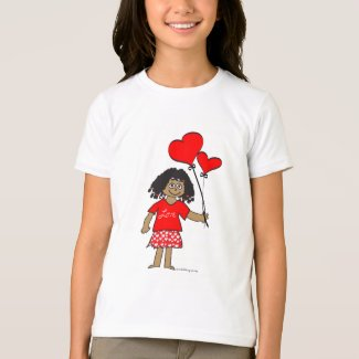 Girl with Hearts T-Shirt