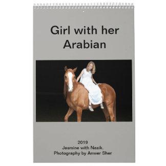 Girl with her Arabian Calendar