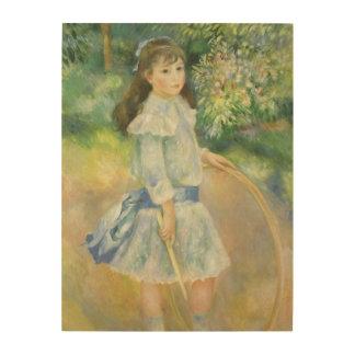 Girl with Hoop by Pierre Renoir, Vintage Fine Art