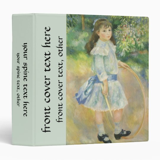 Girl with Hoop by Pierre Renoir, Vintage Fine Art Binder