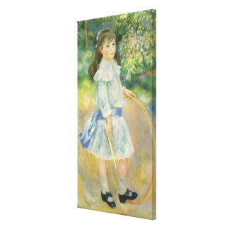 Girl with Hoop by Pierre Renoir, Vintage Fine Art Canvas Print