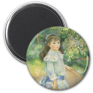 Girl with Hoop by Pierre Renoir, Vintage Fine Art Magnet