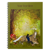 Girl With Horse Fantasy Art Notebook