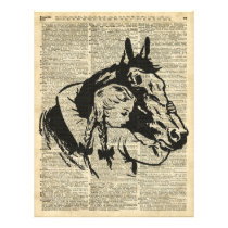 Girl With Horse,old dictionary page,Horse riding Flyer