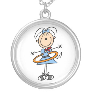 Girl With Hula Hoop Necklace