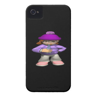 Girl With Icicle iPhone 4 Case-Mate Cases