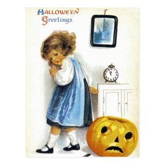 Girl with Jack o Lantern Postcards