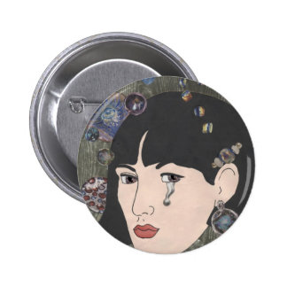 Girl With Kaleidoscope Eyes Button