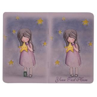 Girl with Kawaii Star Customizable Pocket Journal